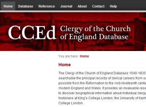Clergy of the Church of England Database